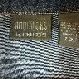 Chico's Jackets & Coats - Denim Jacket Chico's Additions size 1